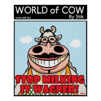STOP MILKING IT POSTER
