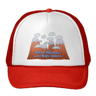 Stop Moose and Squirrel - Dark Mesh Hats