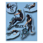 Stop Motion BMX, Copyright Karen J Williams Poster