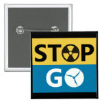 Stop Nuclear 15 Cm Square Badge