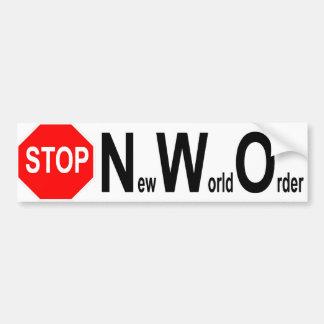Stop NWO bumper sticker