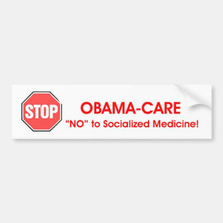 STOP Obama-care Bumper Sticker