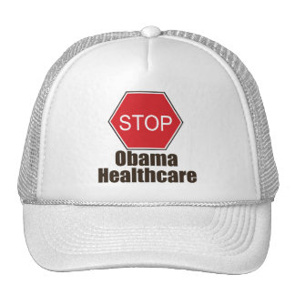 Stop Obama Healthcare Cap Trucker Hats