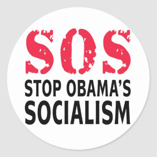 Stop Obama s Socialism - SOS Stickers