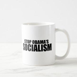 STOP OBAMA SOCIALISM BASIC WHITE MUG