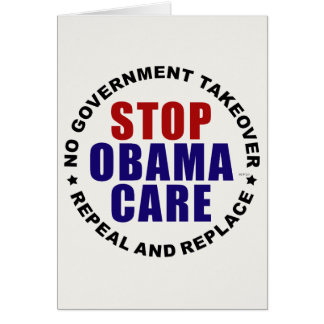 Stop Obamacare Greeting Card