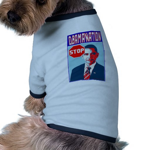 Stop Obamanation Pop Art Political Satire Product Dog Tee