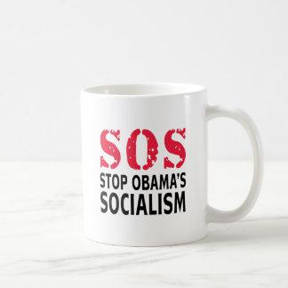 Stop Obama's Socialism - SOS Basic White Mug