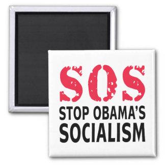 Stop Obama's Socialism - SOS Square Magnet