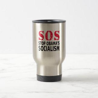 Stop Obama's Socialism - SOS Stainless Steel Travel Mug