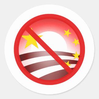 Stop Obammunist Socialism Round Sticker