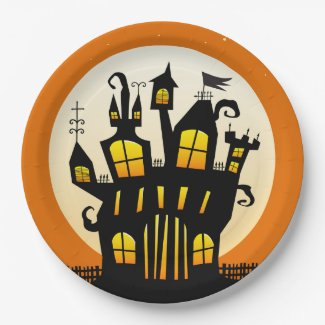 Stop On By Halloween Party Paper Plates
