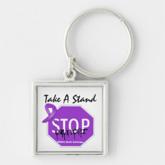Stop Pancreatic CancerTake A Stand Key Chains