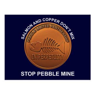 Stop Pebble Mine - Pebble Mine Penny Postcard
