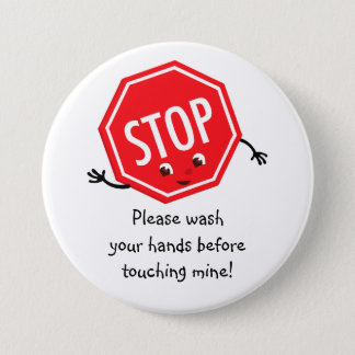 Stop Please Wash Button