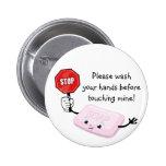 Stop Please Wash Hands Button