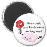 Stop Please Wash Hands Magnet