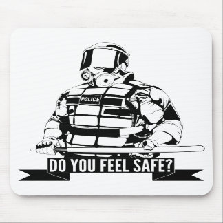 Stop Police Brutality Art for Occupy Movements Mouse Pads