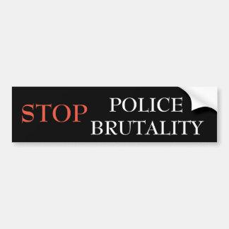Stop police brutality bumper sticker