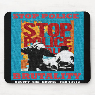 Stop Police Brutality, Occupy the Bronx Flyer 2012 Mouse Pads