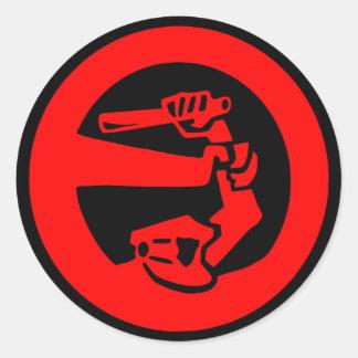 Stop Police Violence Round Sticker
