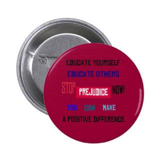 Stop Prejudice Button (dark red)
