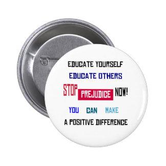 Stop Prejudice Button (white)