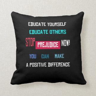 Stop Prejudice Throw Pillow Throw Cushions