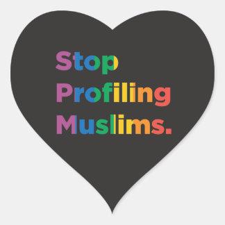 Stop Profiling Muslims Rainbow Heart Sticker