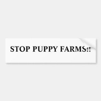 Stop puppy farms!! bumper sticker
