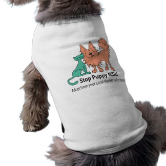 stop puppy mill logo dog T Sleeveless Dog Shirt