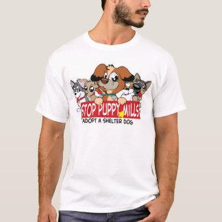STOP Puppy Mills: Adopt A Shelter Dog T-Shirt