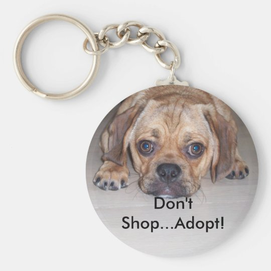 Stop Puppy Mills Basic Round Button Key Ring