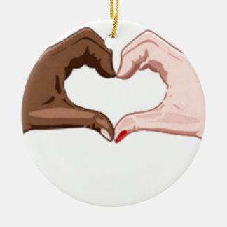 Stop Racism Christmas Ornament