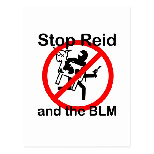 Stop Reid and the BLM Postcards