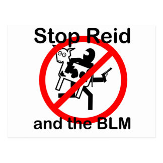 Stop Reid and the BLM Postcard