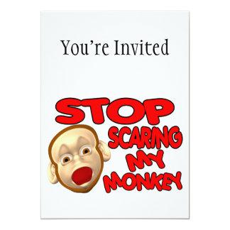 Stop Scaring My Monkey 13 Cm X 18 Cm Invitation Card