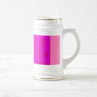Stop Shocking Pink Beer Steins