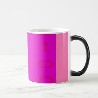 Stop Shocking Pink Morphing Mug