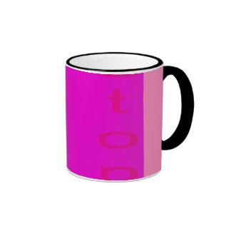 Stop Shocking Pink Ringer Mug