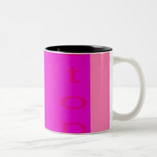 Stop Shocking Pink Two-Tone Mug