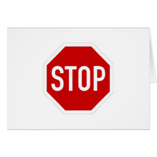 Stop sign card