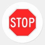 Stop Sign Customisable Round Sticker