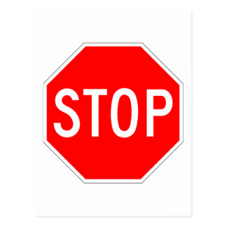 Stop Sign Customizable Postcard