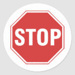 Stop Sign Design! Unique cool design! Round Stickers