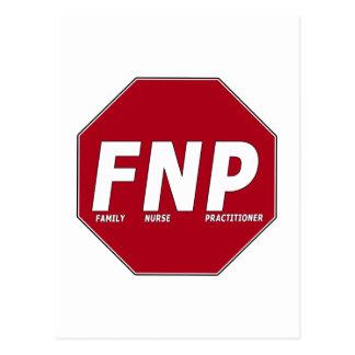 STOP SIGN FNP - Family Nurse Practitioner Postcard