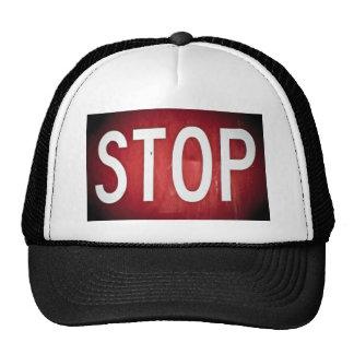 STOP sign Trucker Hats
