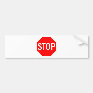Stop Sign - Highway Hexagon Bumper Sticker