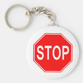 Stop Sign - Keychain