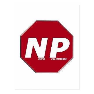 STOP SIGN NP - Nurse Practitioner Postcard